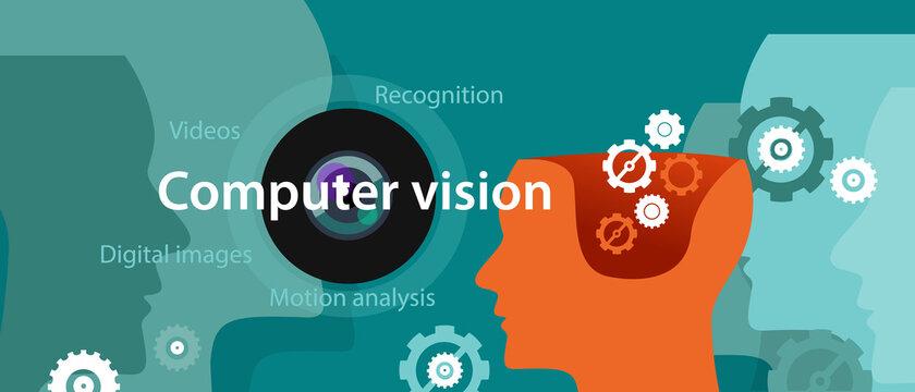 computer vision technology illustration digital image recognition