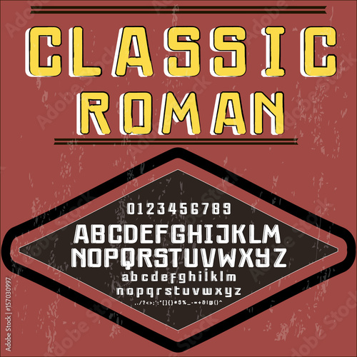 vector font typeface handcrafted classic roman