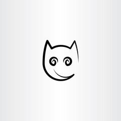 stylized cat icon design element logo
