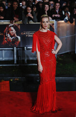 """Actress Malone arrives for the world premiere of """"The Hunger Games : Catching Fire"""" at Leicester Square in London"""