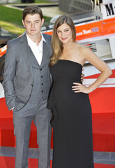 Alexandra Maria Lara and her husband Sam Riley arrive for world premiere of 'Rush' in London
