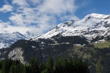 Jungflau mountain in Switzerland jungfraujoch
