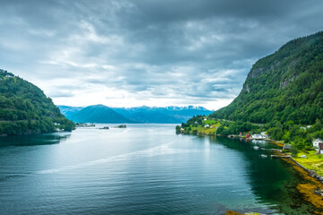 Beautiful Nature Hardangerfjord landscape Norway