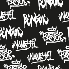 Seamless pattern graffiti