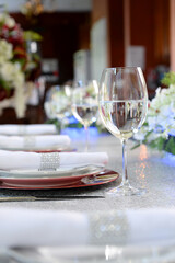 Table Set With Glass