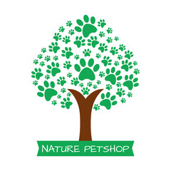 Nature pet paw logo.