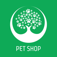 Nature pet paw logo