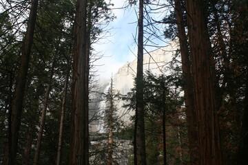 Lower Yosemite falls from trail