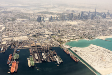 City of Dubai - Ariel view after sandstorm