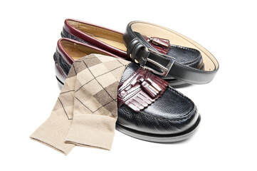 Black slip on dress shoes