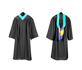 Graduation gown with hood