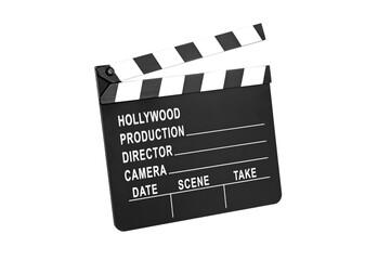 Film slate on white