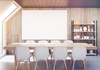 Dining room attic, wood, toned
