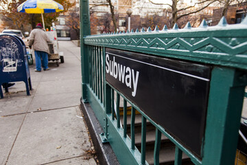Subway Station Staircase Entrance