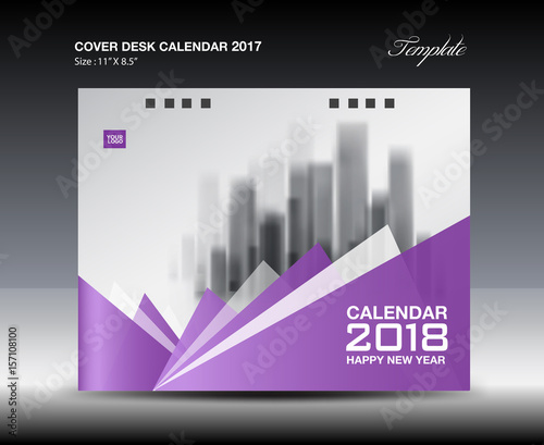 Calendar Design Price : Quot purple cover desk calendar design polygon background