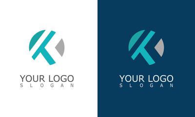 round letter K logo