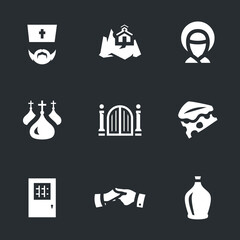 Vector Set of Monastery Icons.