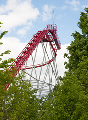 roller coaster at the amusement Park