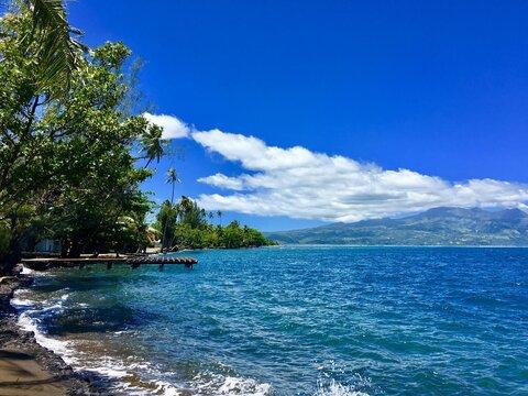Beautiful view on Tahiti Iti, French Polynesia