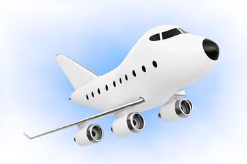 Cartoon Toy Jet Airplane. 3d Rendering