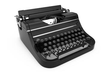 Old Vintage Retro Typewriter. 3d Rendering