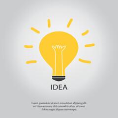 Light bulb with concept of idea.