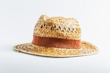 straw hat white background