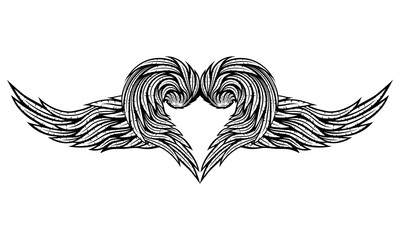 Heart of wings.