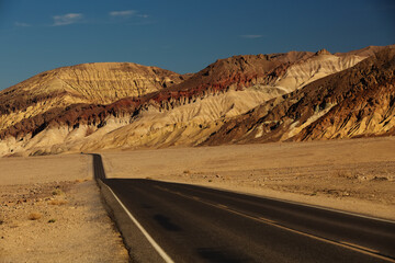 View along Badwater Road in Death Valley National Park, California, USA