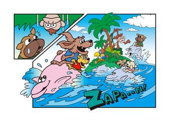 犬の遊園地、犬のキャラクター、アミューズメントパーク