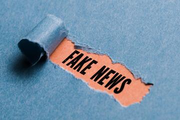 zerrissenes Papier enthüllt Fake News
