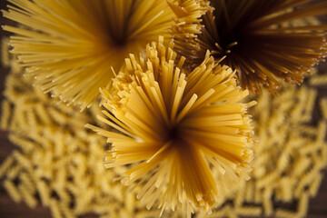 Many types of Italian pasta