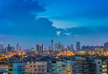 Bangkok metropolis  cityscape in Thailand
