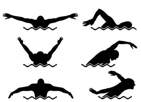 Six swimmers set