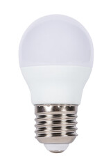 LED light bulb isolated on white background.(With clipping path.)
