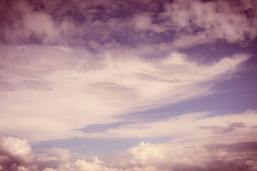 white fluffy clouds with background blue sky
