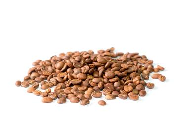 Coffee bean pile  on white background