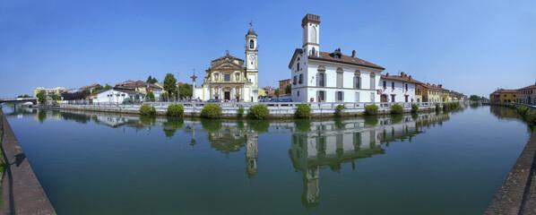 gaggiano con il naviglio grande provincia di milano italia europa da visitare per turismo italy europe