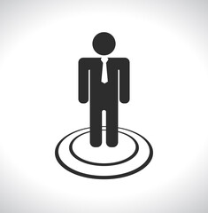 businessman with tie icon