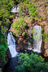 View from above of Florence Falls in Litchfield National Park, Northern Territory, Australia