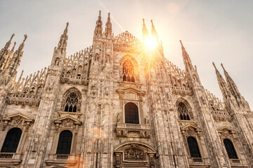 Fototapete - The famous Milan Cathedral, or Duomo, in Milan, Italy