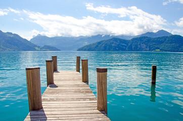 Schweizer Idylle mit See und Abendhimmel zum Träumen: See, Urlaub, Auszeit, Entspannung, Meditation, Unendlichkeit :)