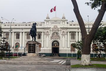 LIMA, PERU - JUNE 5, 2015: Building of Congress in Lima, Peru.