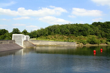 Locks on a  reservoir  (