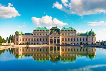 Fond de hotte en verre imprimé Vienne Belvedere Palace in Vienna, Austria