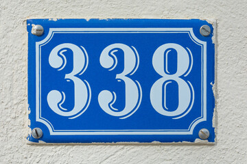 House Number Three Hundred Thirty Eight - 338