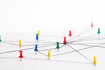 Fototapeta Netzwerk, Network, Verbindung, Kommunikation