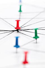 Netzwerk, Network, Verbindung, Kommunikation