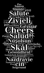 Word Cheers in different languages
