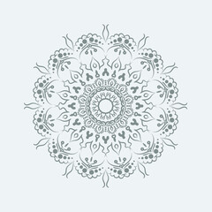Plate with elegance tribal ornament, mandala. Vector Illustration